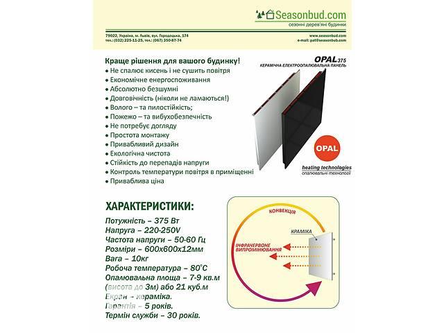 Керамическая электроотопительная панель OPAL- объявление о продаже  в Львове
