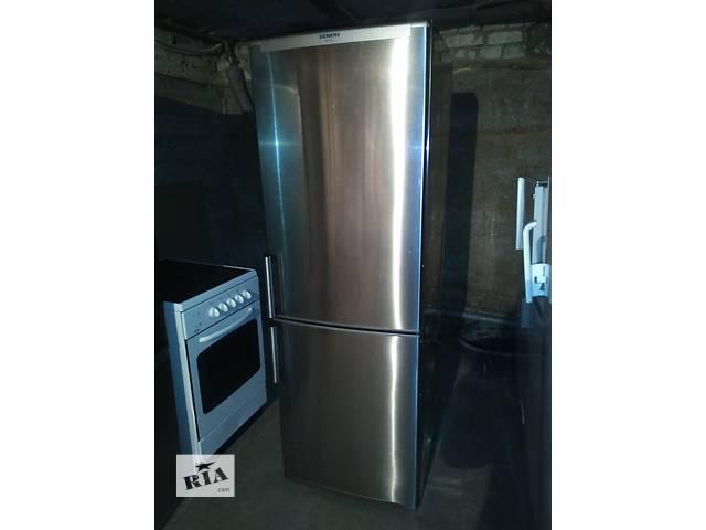 """бу холодильник из нержавейки""""siemens""""1.80 см.из германии.хороший состояние. в Львове"""
