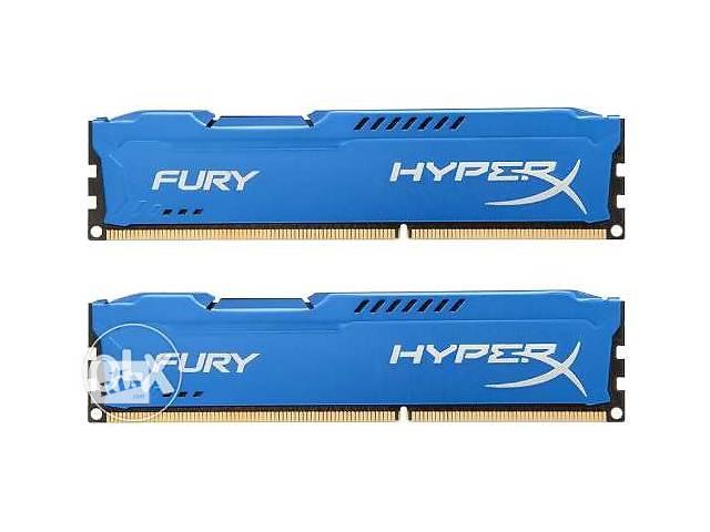 купить бу Kingston DDR3 4GB 4Gb 1600 PC3-12800 HyperX FURY (HX316C10F/4) Новые!!! в Киеве