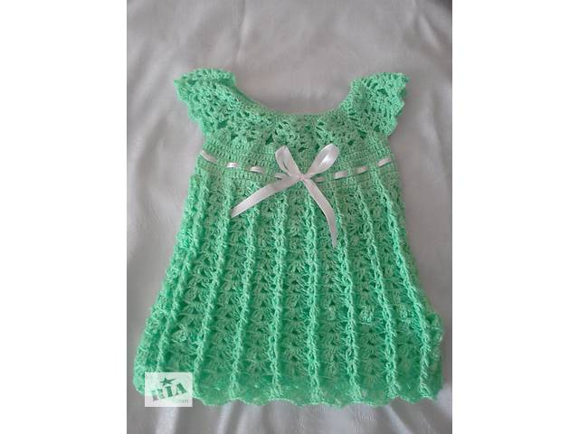 купить бу классное платьечко вязанное крючком в Одессе