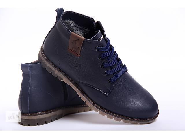 продам Классические зимние ботинки из натуральной кожи Polo model B - 15 синие бу в Вознесенске