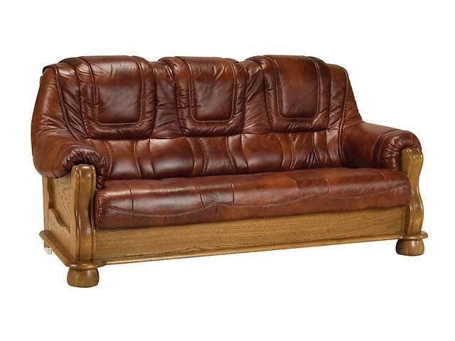 Классический кожаный диван - ROMA 3р. Польша. Бесплатная доставка- объявление о продаже  в Киеве