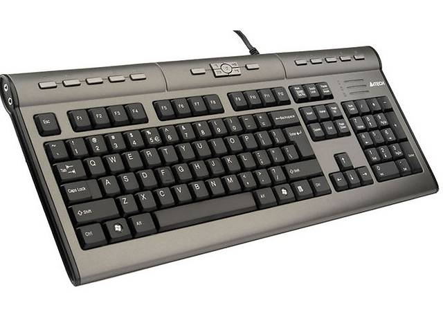 купить бу Клавиатура A4 Tech KLS-7MU PS/2 X-slim USB 2.0+Headset Silver+Black в Киеве
