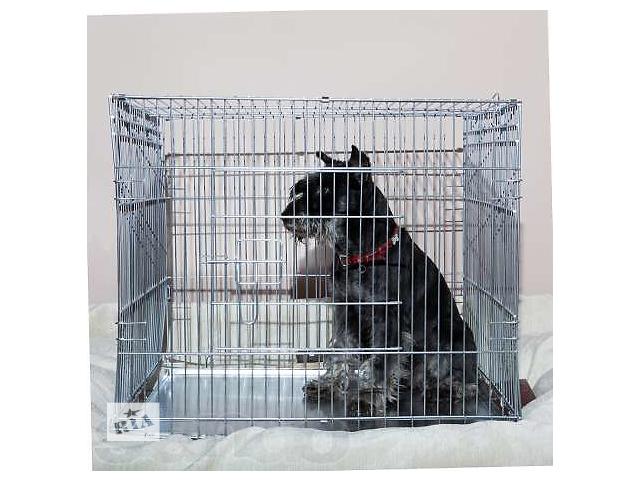 бу Клетка для собак или кошек напрокат 63х50хh53 см (доставляем) в Киеве