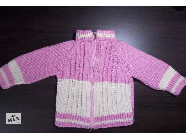 Кофточка на девочку тёплая, вязаная (1-1,5 года, 70–82см) - объявление о продаже  в Киеве