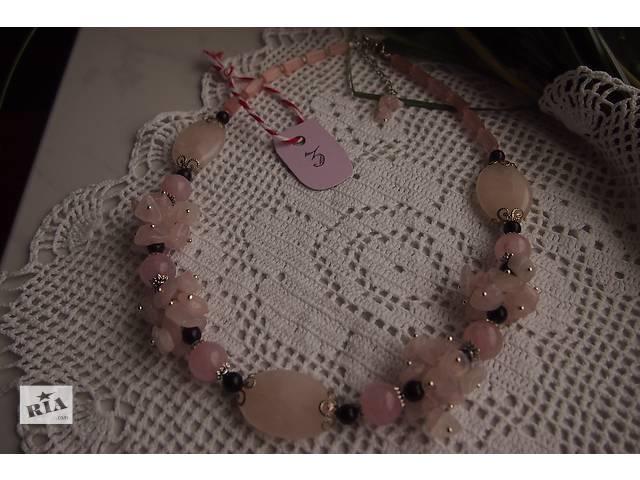 продам Колье из розового кварца и граната бу в Киеве