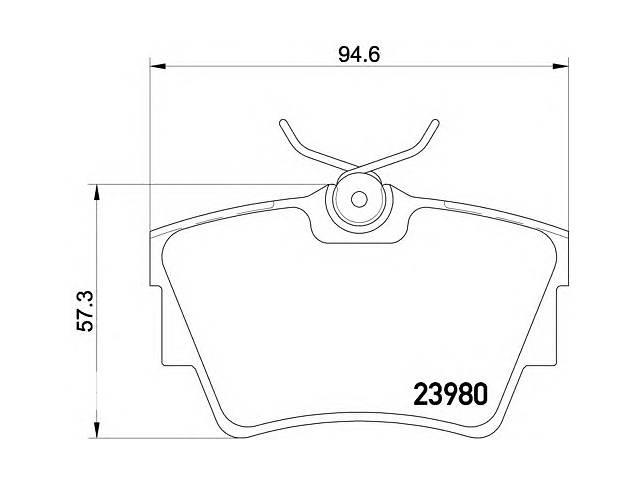 продам Колодки тормозные (задние) Renault Trafic/Opel Vivaro 01- бу в Луцке