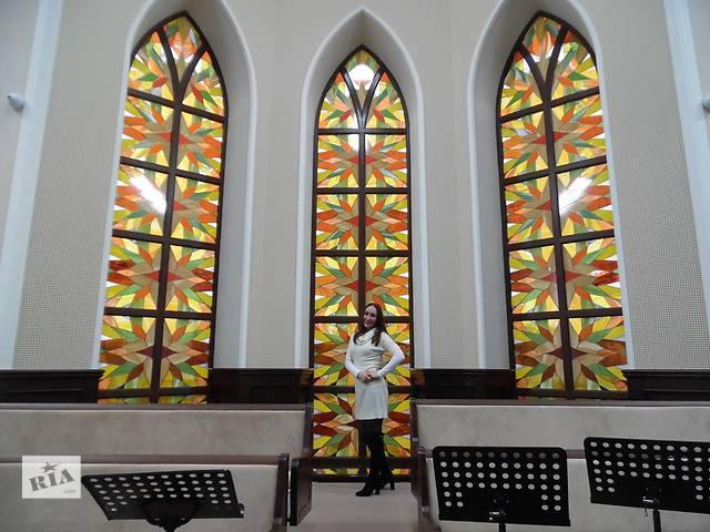 купить бу Цветное стекло (пленкой) - витраж в Ровно