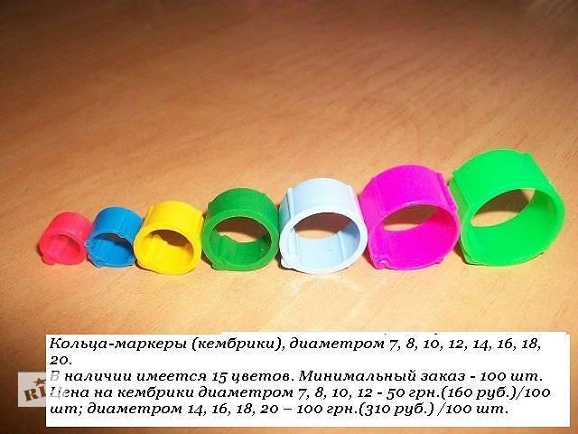 Маркерные кольца (кембрики) для голубей, птиц разных видов и пород- объявление о продаже  в Белой Церкви (Киевской обл.)