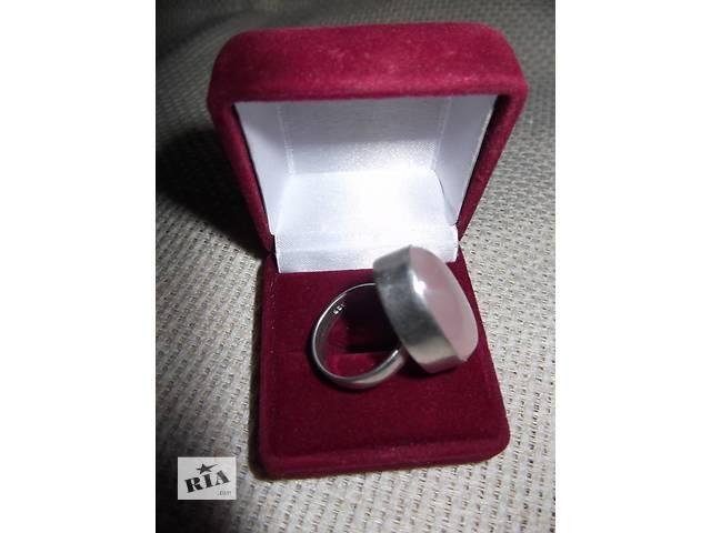 купить бу -20% Кольцо розовый кварц в серебре,проба 925 в Киеве