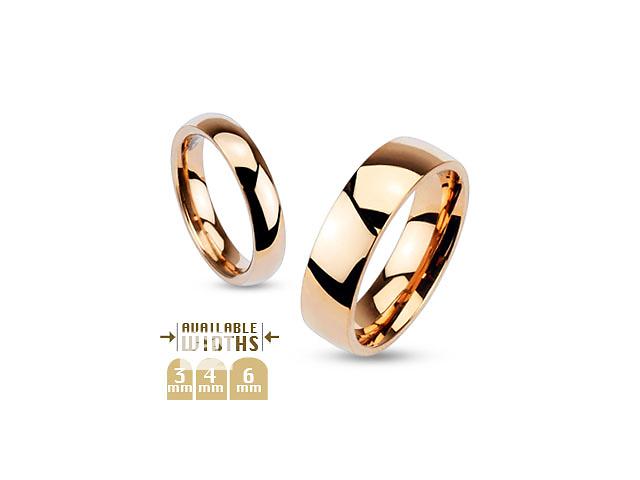 бу Кольцо обручальное цвет розовое золото, нержавеющая сталь 316L Spikes (США) в Барышевке
