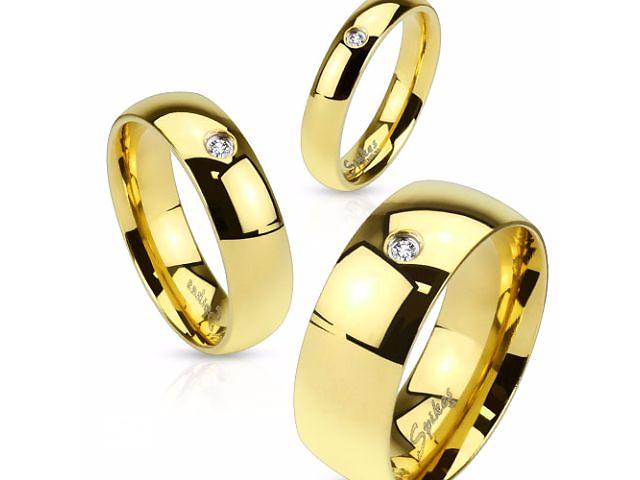продам Кольцо обручальное из нержавеющей стали с фианитом Spikes (США) бу в Барышевке