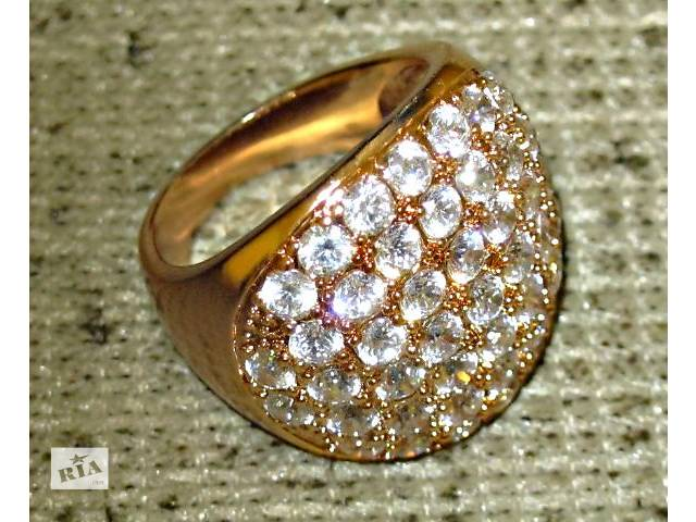 продам Кольцо с фианитами, покрытое золотом бу в Николаеве