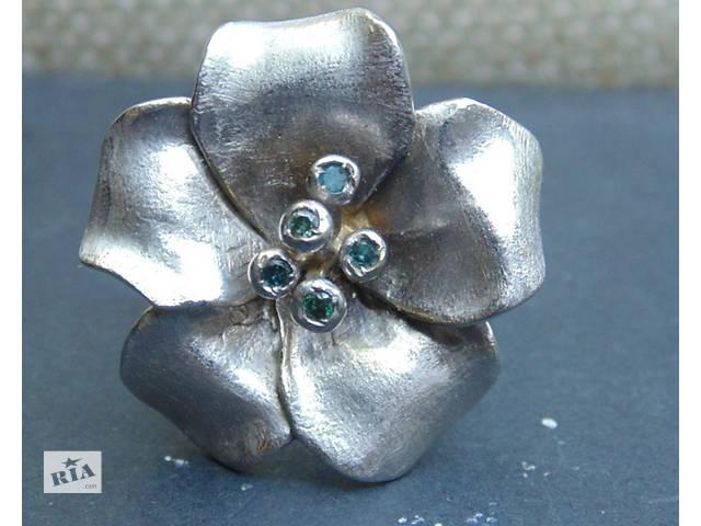 бу Кольцо Tiffany с голубыми бриллиантами в Одессе