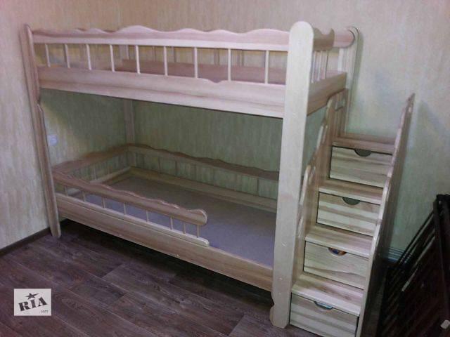 Комплект двухъярусная кровать Врунгель из ясеня (дуба) + лестница-комод- объявление о продаже  в Киеве