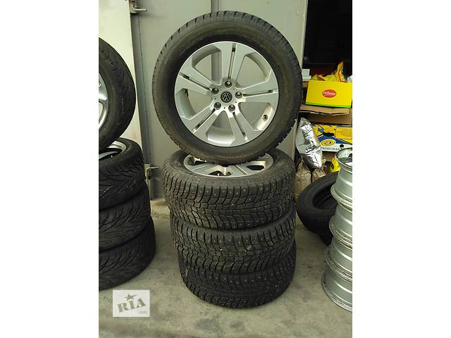 продам Комплект дисков Volkswagen Touareg R18 5x120 + резина Michelin 255/55 бу в Киеве