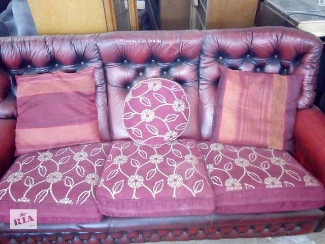 продам Комплект диванов Chesterfield 3+2+1 (натуральная кожа) бу в Жидачове