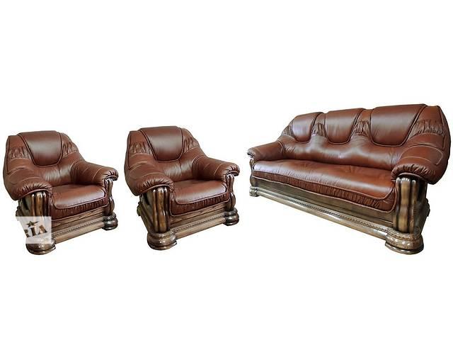 бу Комплект кожаной мебели (3+1+1) Гризли Курьер в Киеве