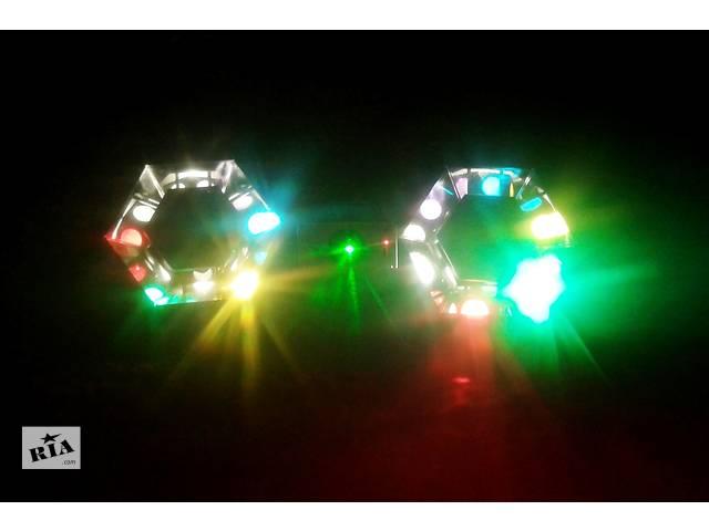 бу Комплект мобильного света для дискотеки/караоке (2 фонаря+лазер) в Одессе