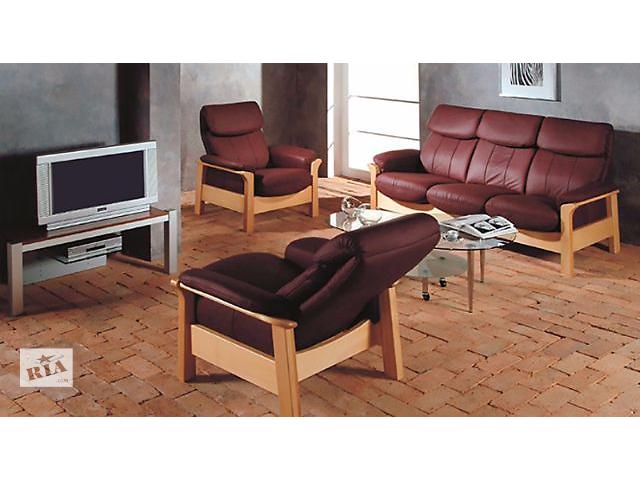 бу Комплект мягкой кожаной мебели Chicago Pyka (3r+2+1) в Киеве