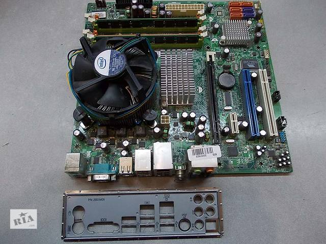 бу Комплект S775 мат. плата Msi MS-7502 , 4x2.83 Ghz, 4 Gb ОЗУ+ Кулер в Запорожье