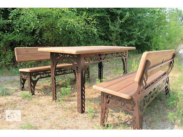 Комплект садовой мебели - стол и 2 лавки (длина 150 см)- объявление о продаже  в Днепре (Днепропетровске)