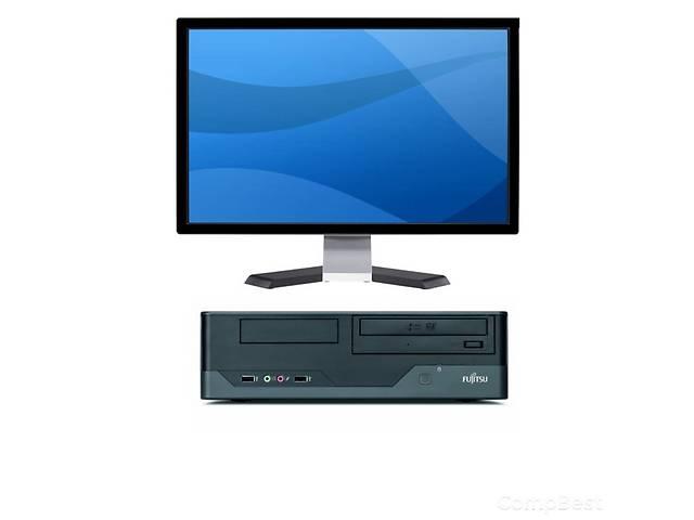 """купить бу Суперпредложение!     Магазин брендовых ПК из Европы """"КомпБест"""" (*введите в Google, чтобы узнать больше*)  предлагает Вам:     Современный системный блок Fujitsu Esprimo E3521 в корпусе SSF и широкоформатный плоский монитор 22"""" (1680x1050/16:10/TN).     Рабочие станции Fujitsu Esprimo E3521 являются оптимальным выбором для крупных заказчиков, которым требуется производительный компьютер, отвечающий самым современным стандартам. Этот персональный компьютер в исключительно компактном форм-факторе сочетает в себе высочайшую производительность и чрезвычайно привлекательную цену. Гибко конфигурируемые, основанные на проверенных временем технологиях Intel, с высокоэффективным блоком питания, эти компьютеры являются идеальным выбором для бизнес задач. Рабочие станции ESPRIMO E3521 отвечают требованиям ENERGY STAR и Blauer Engel.     Состояние системника идеальное.  --Процесор: Intel Core 2 Duo (2 физических ядра по 3,0 GHz; 6 mb cache)  --ОЗУ 4 GB DDR3;  --HDD 250 GB;  --Video: Intel HD Graphics;  -- Установленная Windows 7 и драйвера.     Кроме того, в сочетании с 22-дюймовым широкоформатным монитором ПК Fujitsu Esprimo E3521 станут Вашим незаменимым помощником в людой работе: будь это офисная работа или просмотр фильмов и др.   .......................Характеристики  ----Оперативная память (Gb):4  ----Жёсткий диск (Gb):        250  ----Операционная система:Windows 7  ----Страна-производитель:Германия  ----Модель системного блока:Fujitsu Esprimo E3521  ----Модель монитора:    22""""/1680x1050/16:10/TN  ----Модель процессора:  Intel Core 2 Duo E8400  ----Количество ядер ЦП: 2  ----Диагональ монитора (дюймы):22""""  ----Форм-фактор системного блока:SFF (small)  ----Ориентация монитора:Широкоформатный  ----Лицензионная наклейка:Нет  ----Тип оперативной памяти:DDR3  ----Видеокарта:         Интегрированная  ----Тактовая частота ЦП (GHz):3.0  ----Размер кеша ЦП (Мб):6 mb  ----Другое: Клавиатура, мышка, кабеля в комплекте; отсутствует оптический привод.      Ви не ошибётесь, """