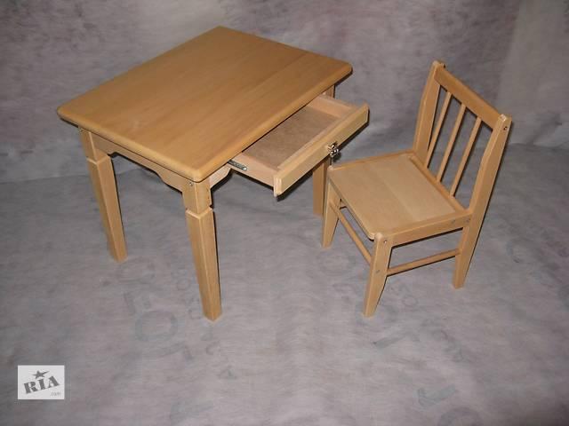 Комплект из дерева для детской комнаты (стол и стул)- объявление о продаже  в Харькове