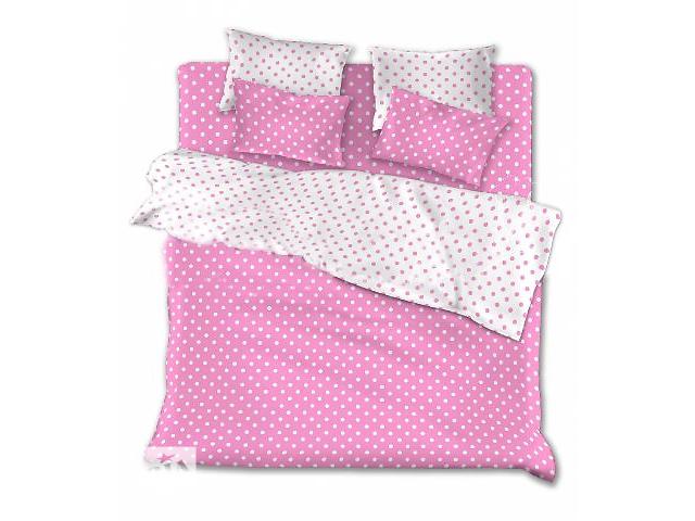 купить бу Комплекты постельного белья недорого – Розовые горохи  в Киеве