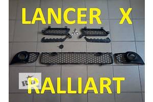 Новые Решётки бампера Mitsubishi Lancer X Ralliart
