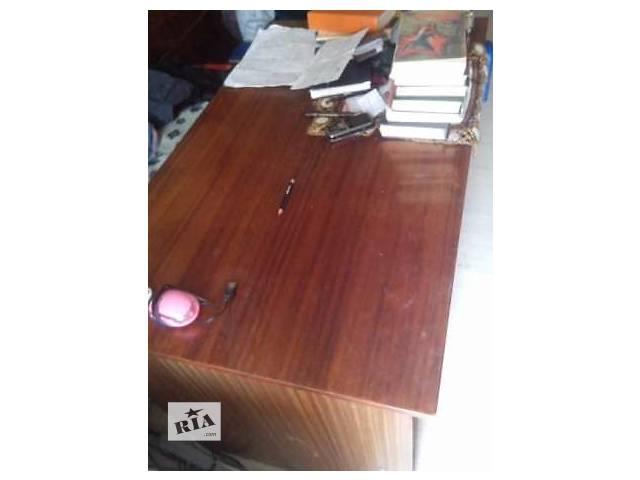 купить бу Компьютерный стол коричневый c тумбочкой в Киеве