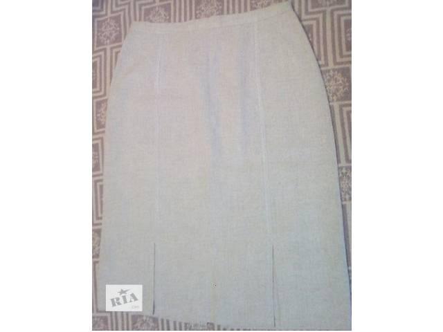Конопляная юбка. Цвет светлый.  Размер 44- объявление о продаже  в Киеве