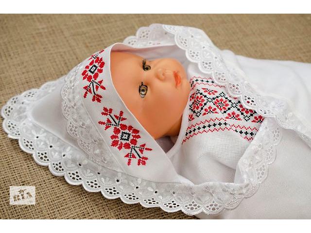 Вышивка на конверт для новорожденного