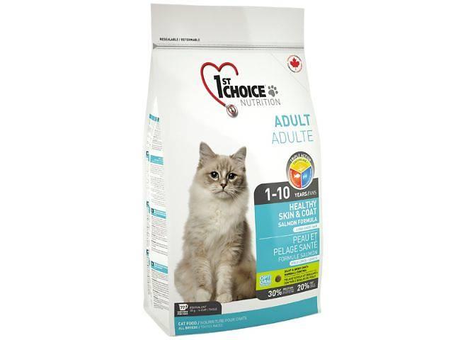 Корм для кошек 1st Choice Лосось хелзи Healthy Skin & Coat (Salmon Indoor) для кошек с длинной шерстью- объявление о продаже  в Харькове