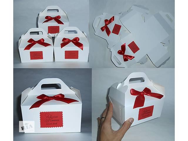 купить бу Коробки пакеты для каравая, торта, шишки. Бонбоньерки. в Киеве