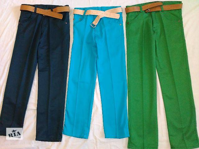 продам Котоновые брюки джинсы на мальчика Весна, осень 5, 6, 7, 8, 9, 10, 11, 12 лет бу в Мариуполе (Донецкой обл.)