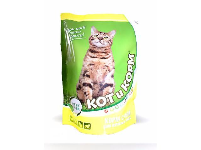 КОТиКОРМ ( Кот и корм ) белорусский сухой премиум корм для взрослых кошек с курицей 0,4 кг- объявление о продаже  в Киеве