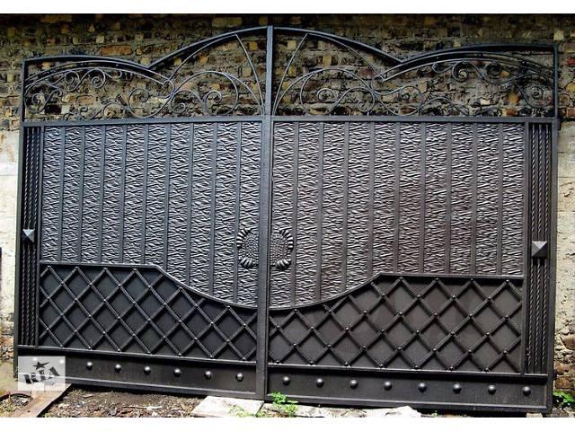 продам Кованые распашные ворота с калиткой бу в Харькове