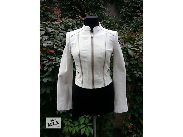 Кожаная куртка Bebe ( оригинал ), новая без ценников, цвет - белый.- объявление о продаже  в Киеве