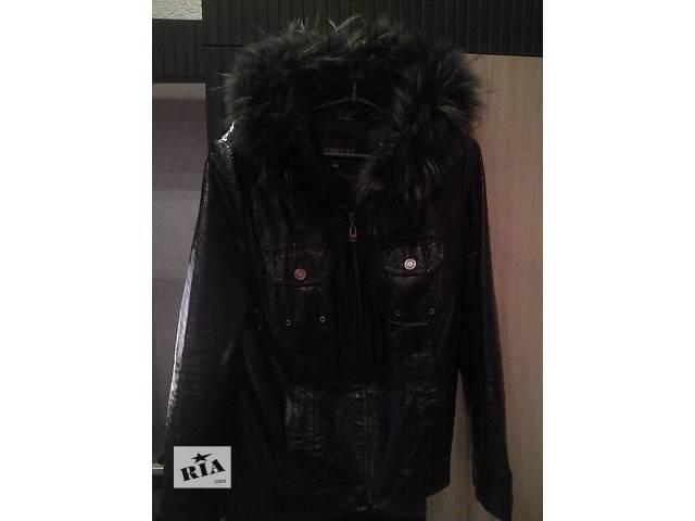 продам Кожаная куртка с капюшоном 52 р  бу в Сумах