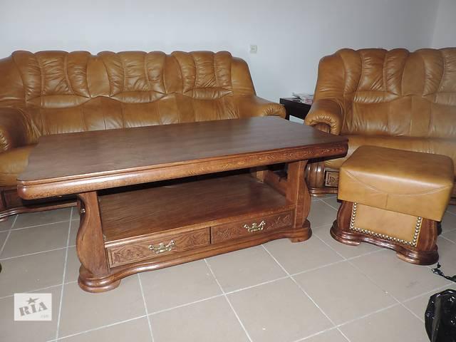 купить бу кожаная мебель антикварная cheverny, антиквариат, комплект мебели 3+1+1 в Дрогобыче
