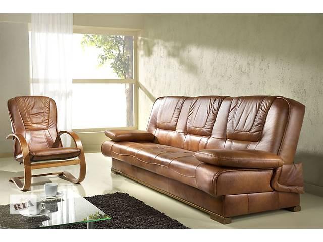 бу кожаная мебель Finka раскладной диван + 2 кресла-качалки, мебель Польша в Дрогобыче