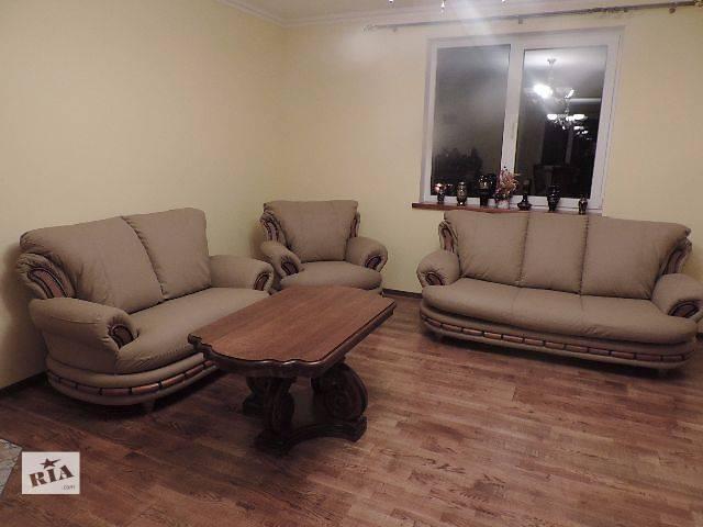 купить бу кожаная мебель, кожаный диван + 2 кресла Atena. в Дрогобыче