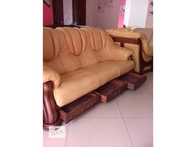 купить бу Кожаная мебель на дубе Leon 3+1+1 в Дрогобыче