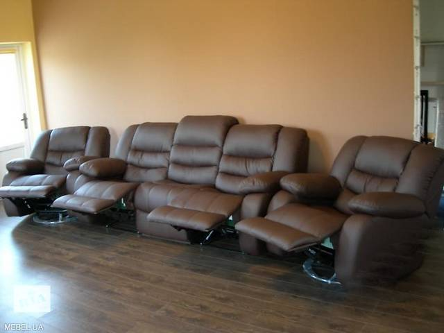 продам кожаная мебель реклайнер, мягкий диван релакс,recliner бу в Дрогобичі