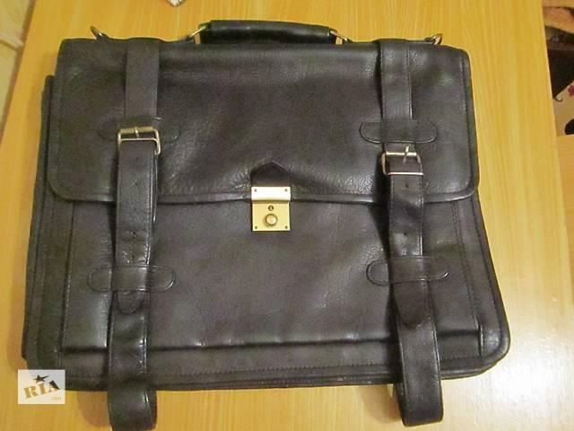 купить бу Кожаная сумка для ноутбука и бумаг в Харькове