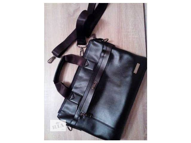 купить бу Кожаная сумка мужская для формата А4 в Запорожье