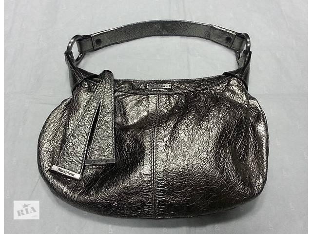 продам Кожаная сумочка Max Mara, оригинал, цвет - стальной. бу в Киеве