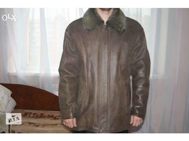 купить бу Кожаная зимняя куртка в Киеве