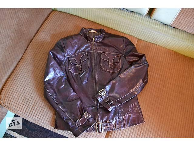 бу Кожанная лакированная куртка в Полтаве